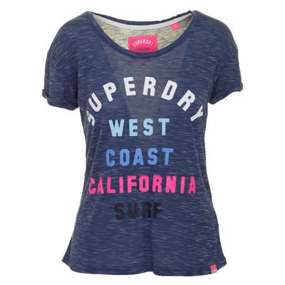 تصویر تی شرت ویسکوز یقه گرد زنانه – سوپردرای