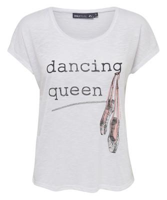 تصویر تی شرت نخی یقه گرد زنانه – اونلی پلی
