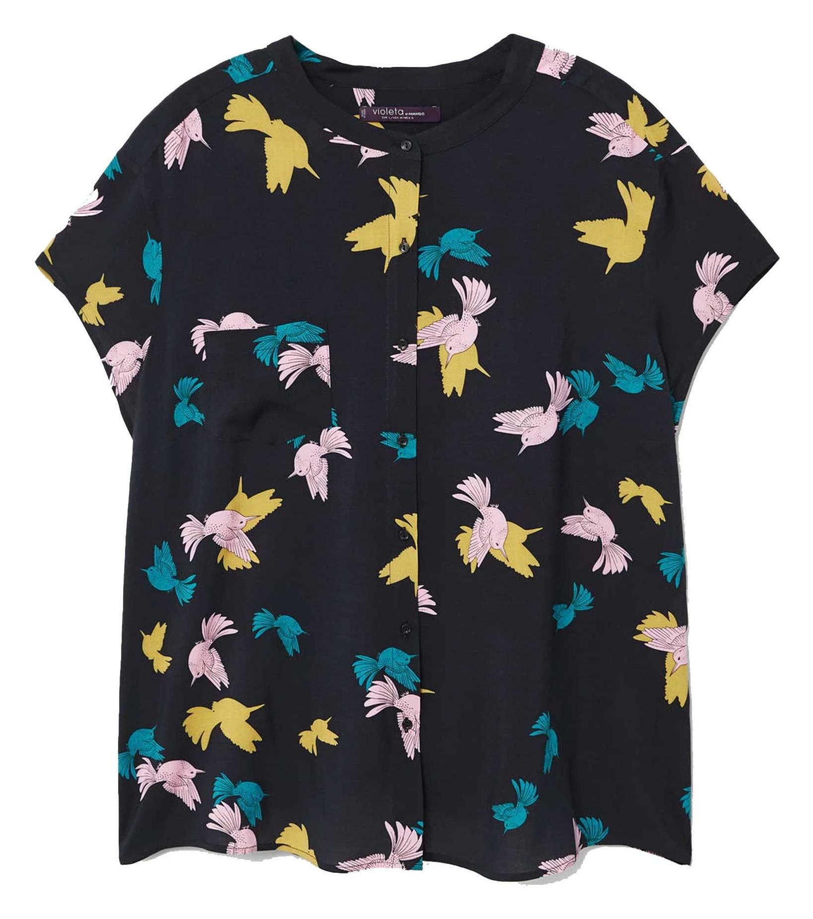 تی شرت ویسکوز یقه گرد زنانه - ویولتا بای مانگو