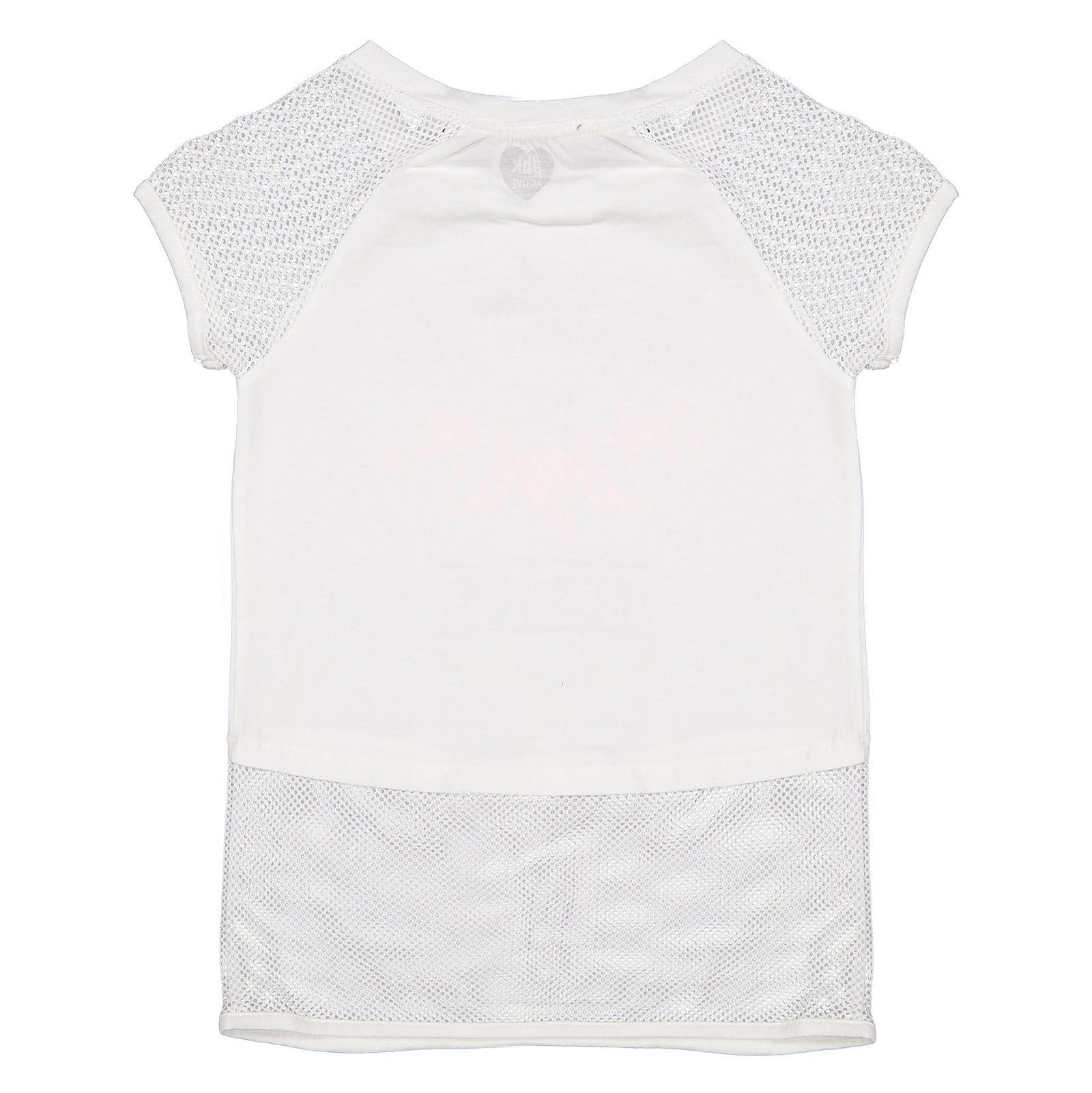 تی شرت و شلوار دخترانه - بلوکیدز - سفيد/مشکي - 3