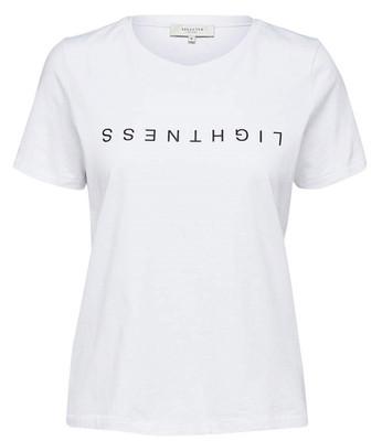 تی شرت نخی یقه گرد زنانه - سلکتد