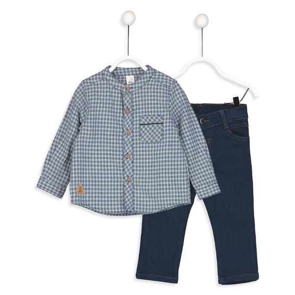 پیراهن و شلوار نخی پسرانه - ال سی وایکیکی