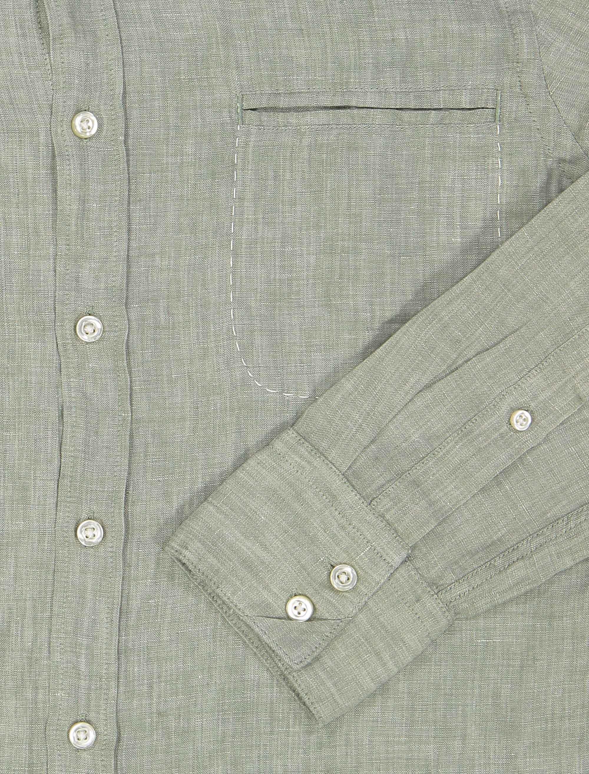 پیراهن آستین بلند مردانه Classy_1 - باس اورنج - سبز روشن  - 7