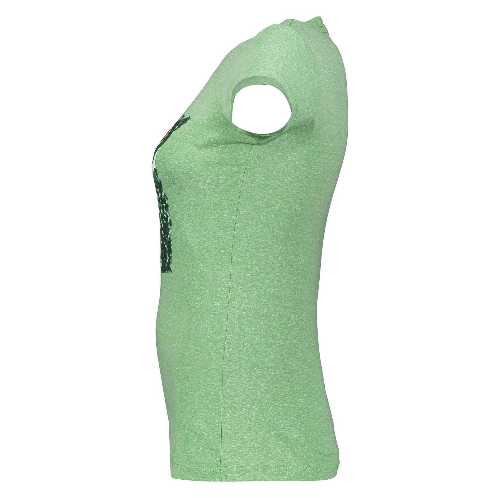 تی شرت یقه گرد زنانه - متی - سبز - 3
