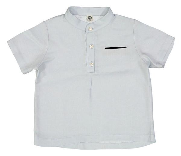 پیراهن نخی آستین کوتاه پسرانه مدل رامین - دایان