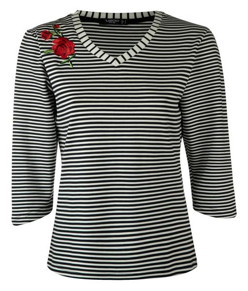 تی شرت یقه هفت زنانه - زیبو