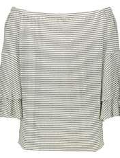تی شرت ویسکوز یقه گرد زنانه - ویولتا بای مانگو - سفید - 3