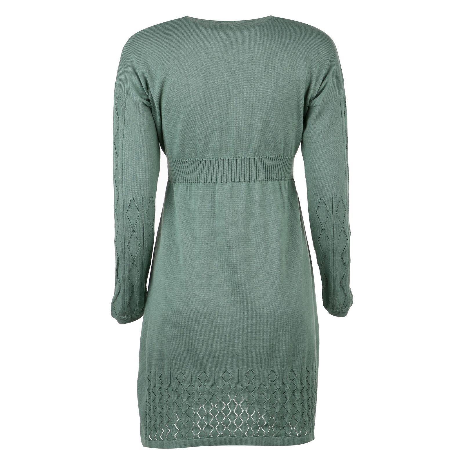 پیراهن میدی زنانه - مون - سبز - 2