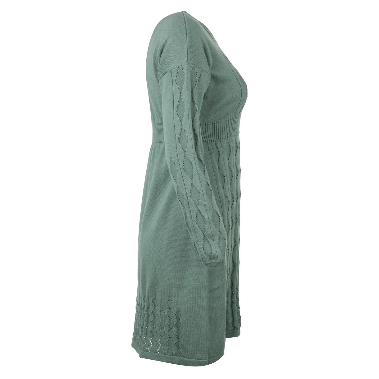 پیراهن میدی زنانه - مون - سبز - 3