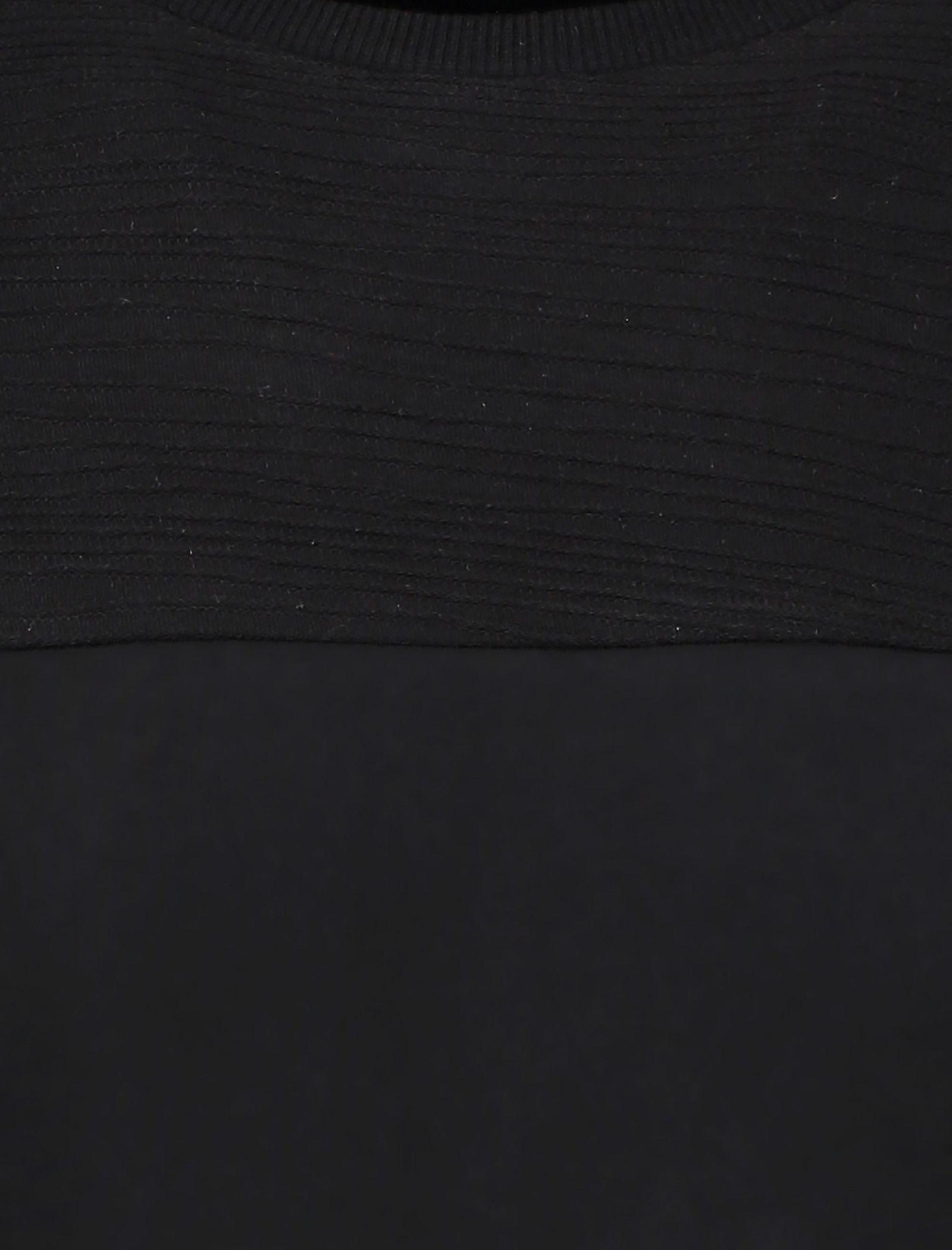 تی شرت نخی یقه گرد مردانه - کروم - مشکي - 5