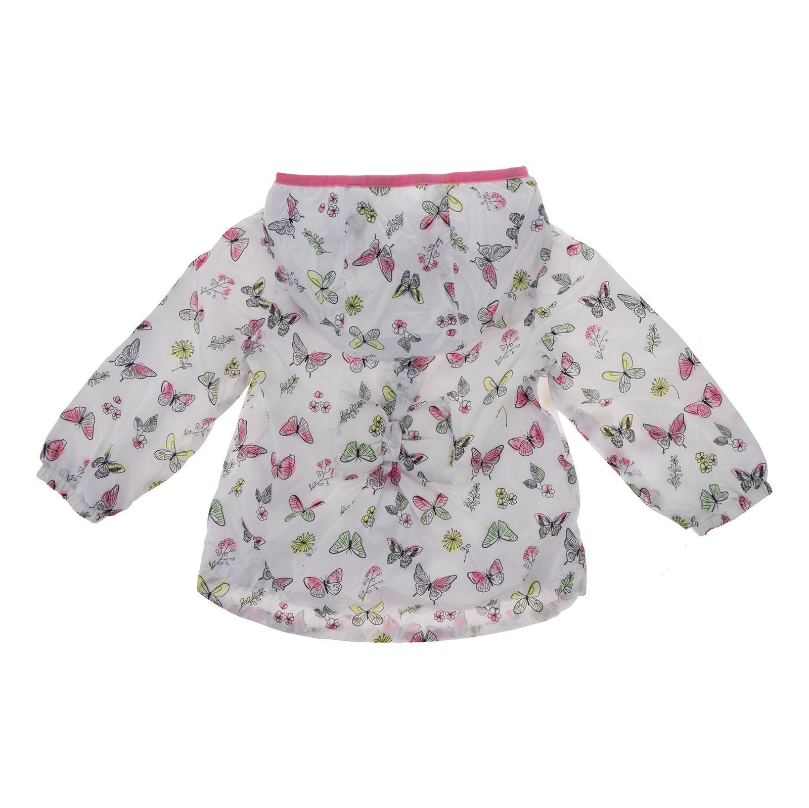 کاپشن طرح دار نوزادی دخترانه - بلوکیدز - سفيد - 2
