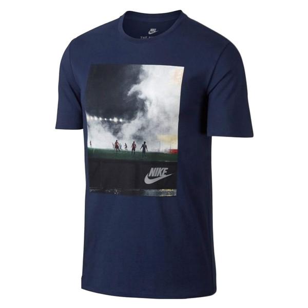 تی شرت نخی یقه گرد مردانه - نایکی