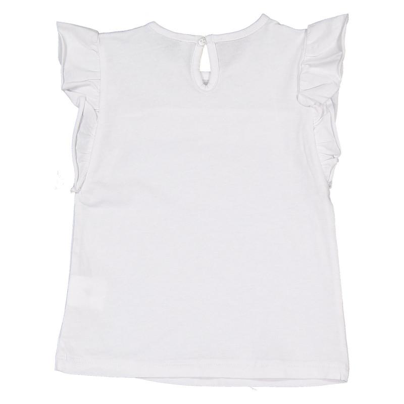 تی شرت نخی یقه گرد دخترانه - ایدکس
