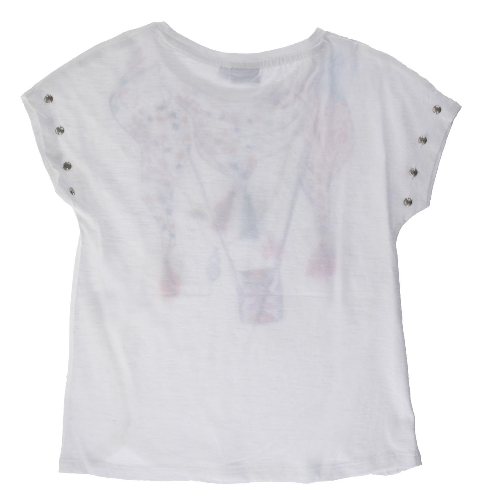 تی شرت نخی یقه گرد دخترانه - بلوکیدز - سفيد - 2