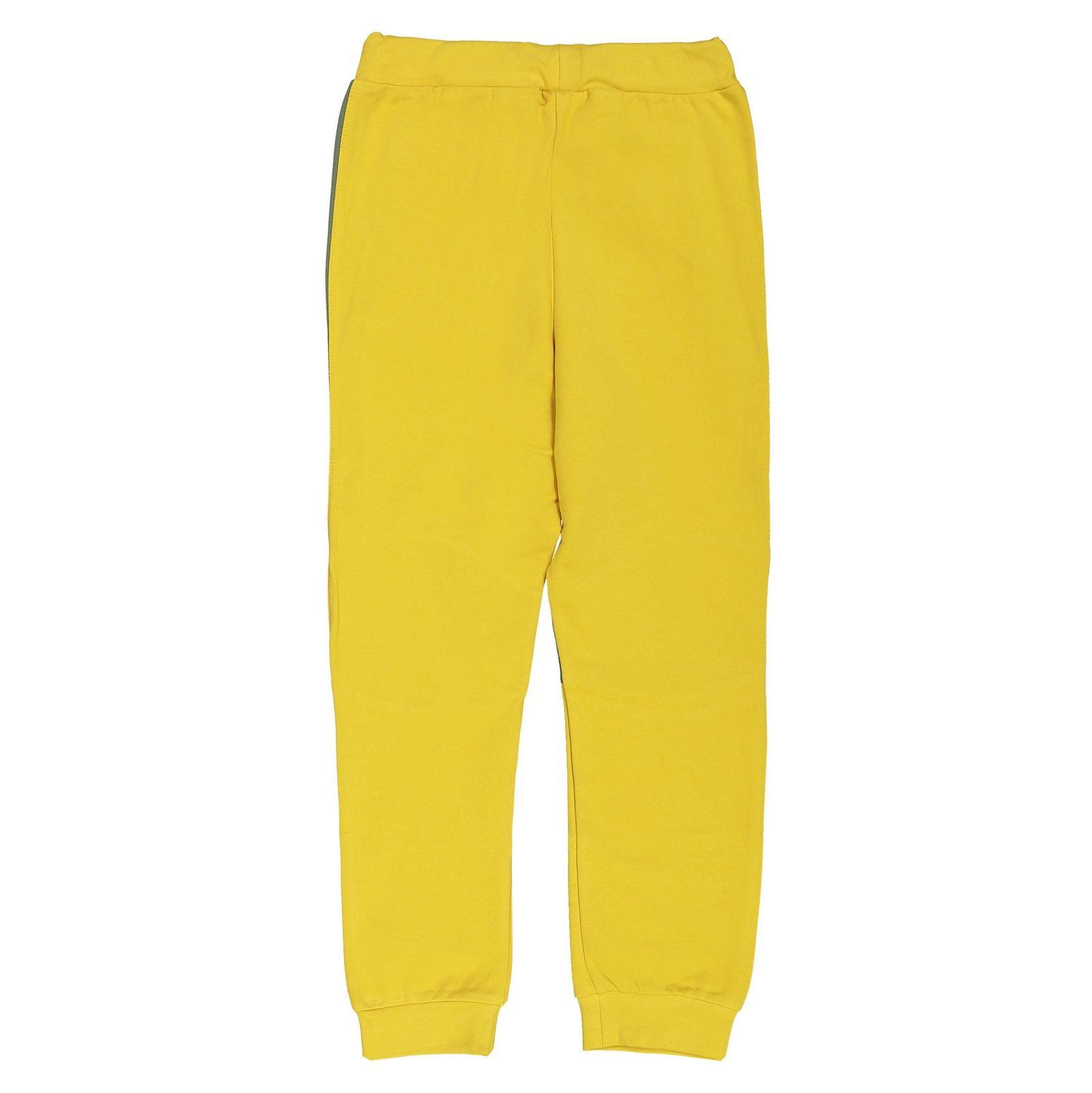 پیراهن و شلوار پسرانه - پیانو - زرد - 5