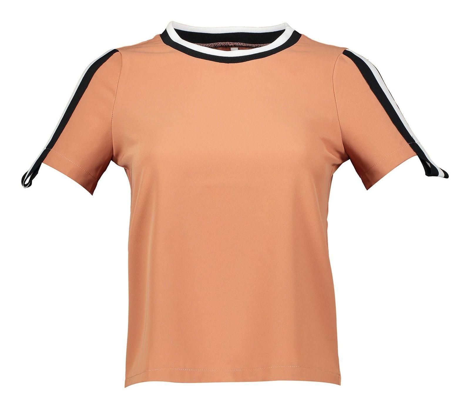تی شرت یقه گرد زنانه - امپریال - نارنجي تيره - 3