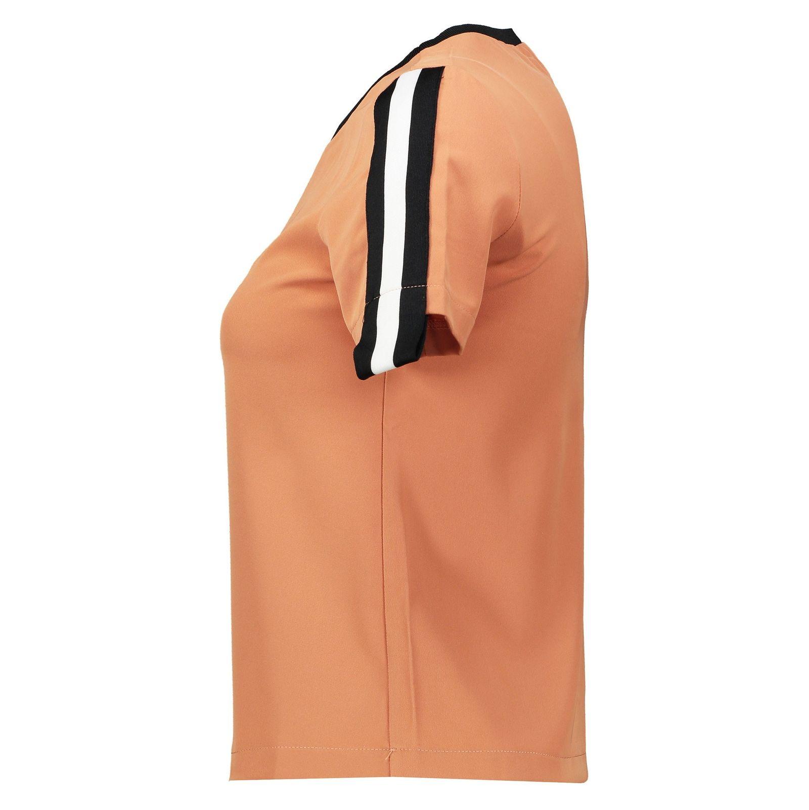 تی شرت یقه گرد زنانه - امپریال - نارنجي تيره - 5