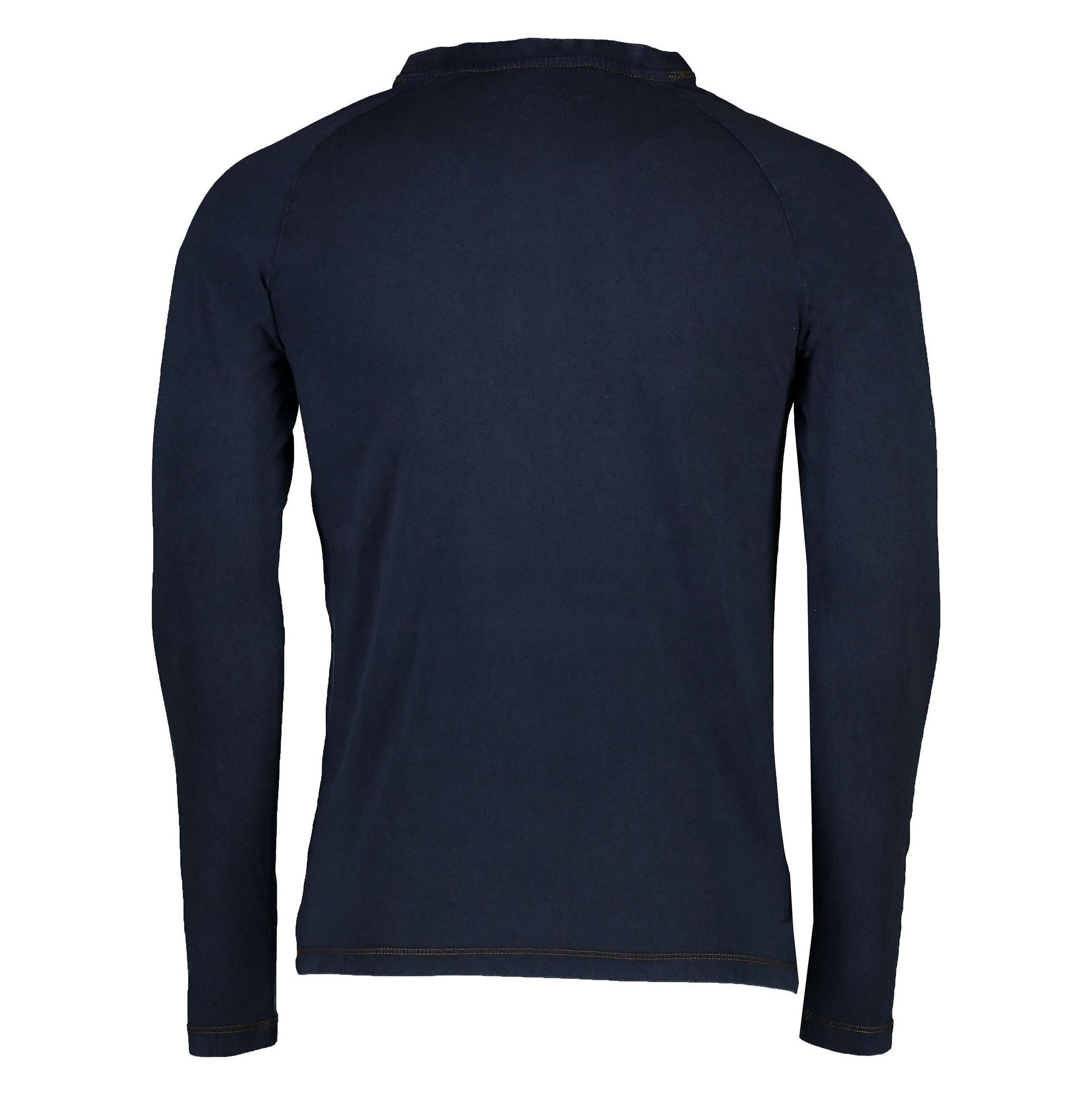 تی شرت نخی یقه هفت مردانه - یوپیم - سرمه اي - 2