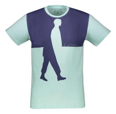 تصویر تی شرت نخی یقه گرد مردانه – نامدارز