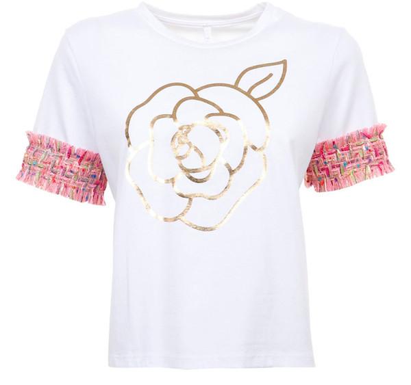 تی شرت نخی یقه گرد زنانه - امپریال