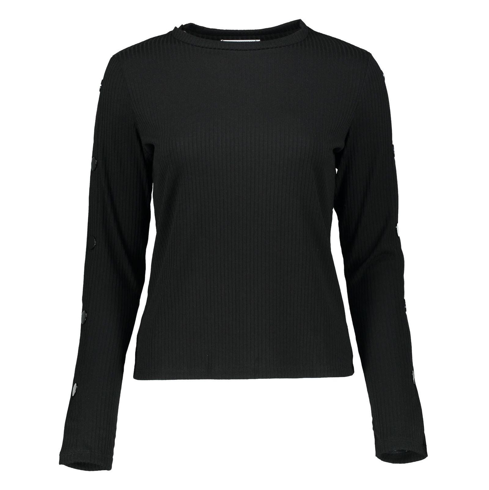 تی شرت یقه گرد زنانه - مانگو - مشکي - 2