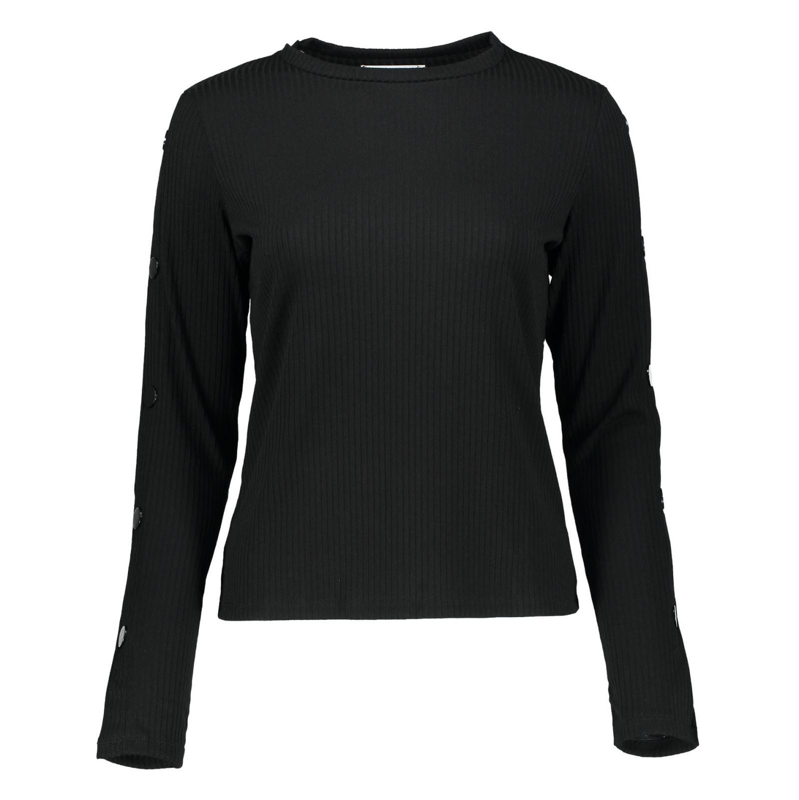 تی شرت یقه گرد زنانه - مانگو - مشکي - 3