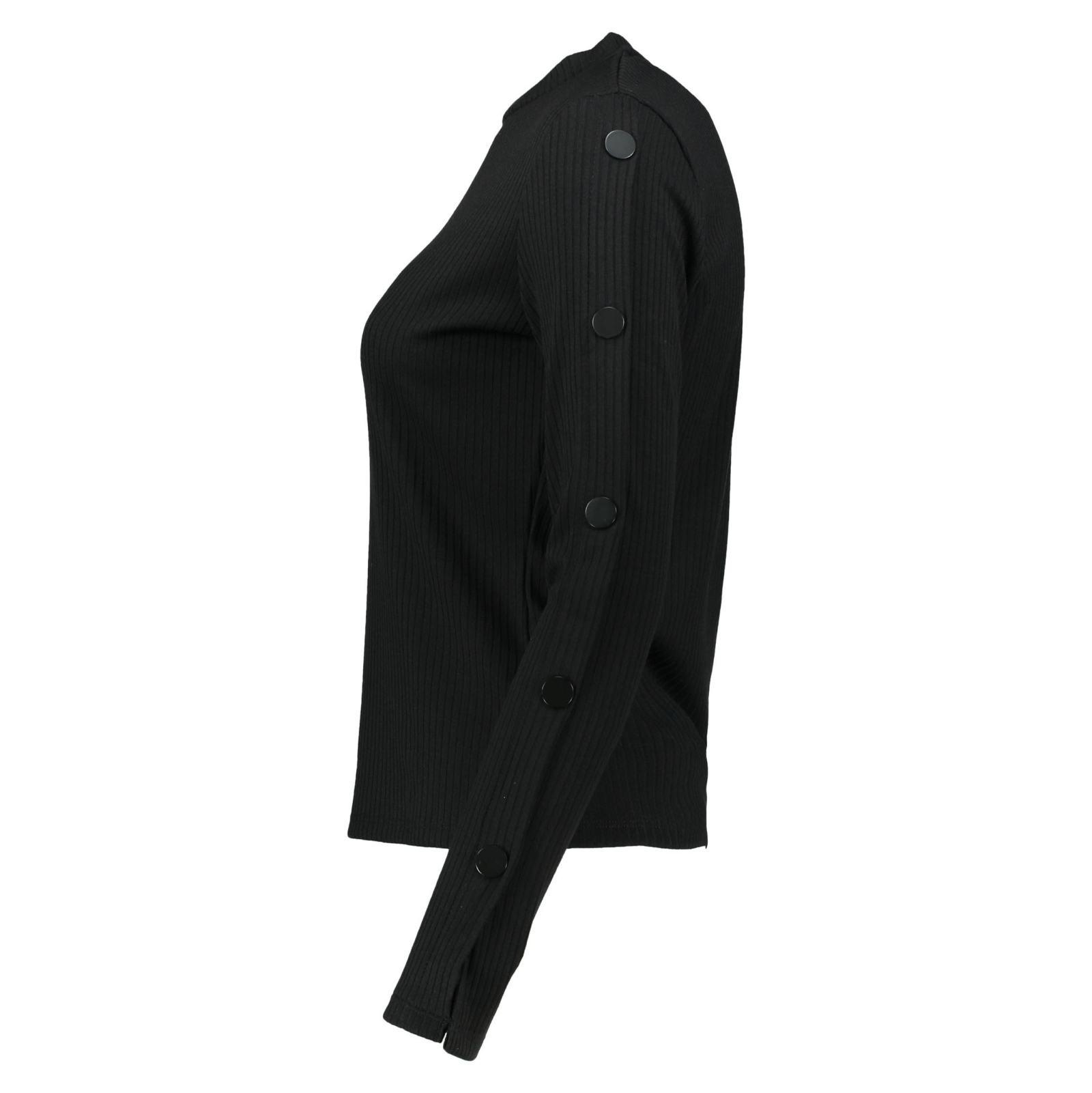 تی شرت یقه گرد زنانه - مانگو - مشکي - 5