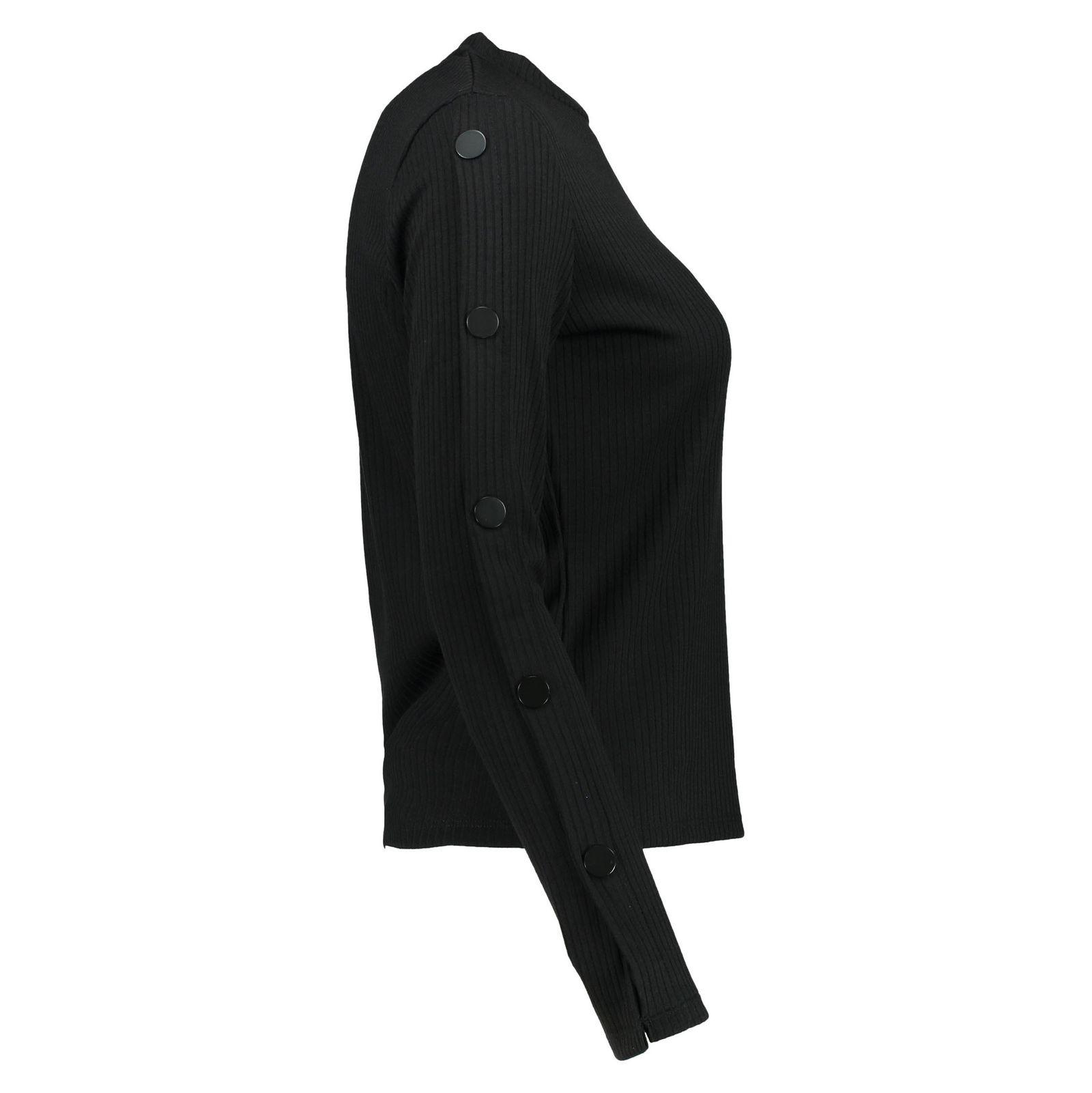 تی شرت یقه گرد زنانه - مانگو - مشکي - 6