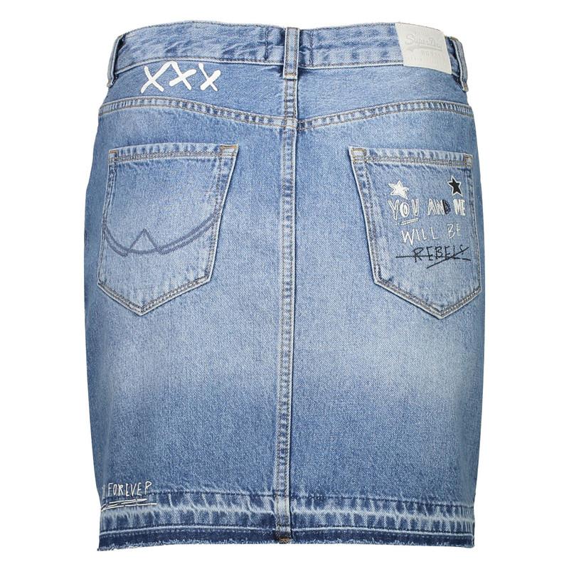 دامن جین کوتاه زنانه - سوپردرای