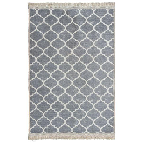 فرش ماشینی محتشم کد 100450 زمینه طوسی