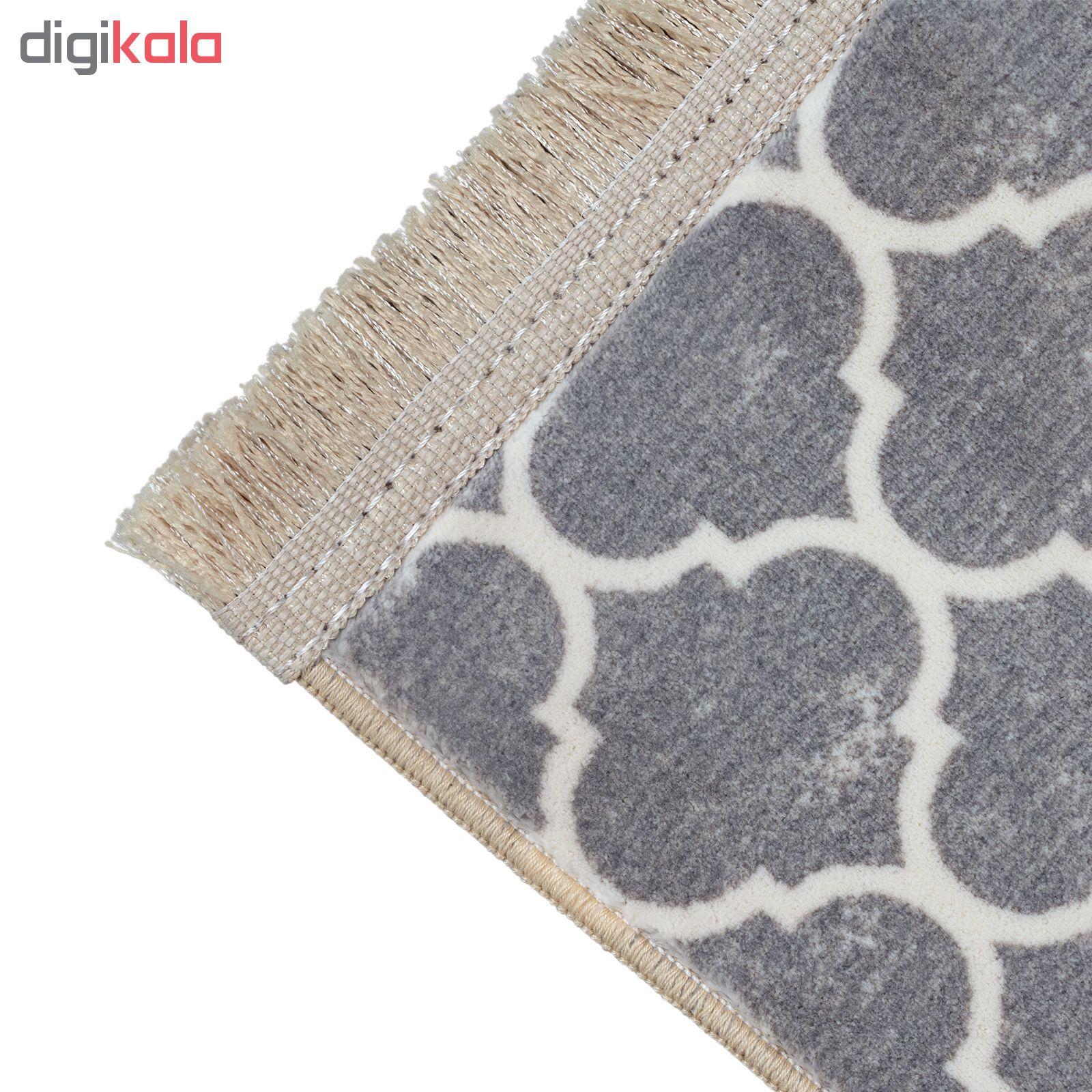 فرش ماشینی محتشم کد 100450 زمینه طوسی main 1 3