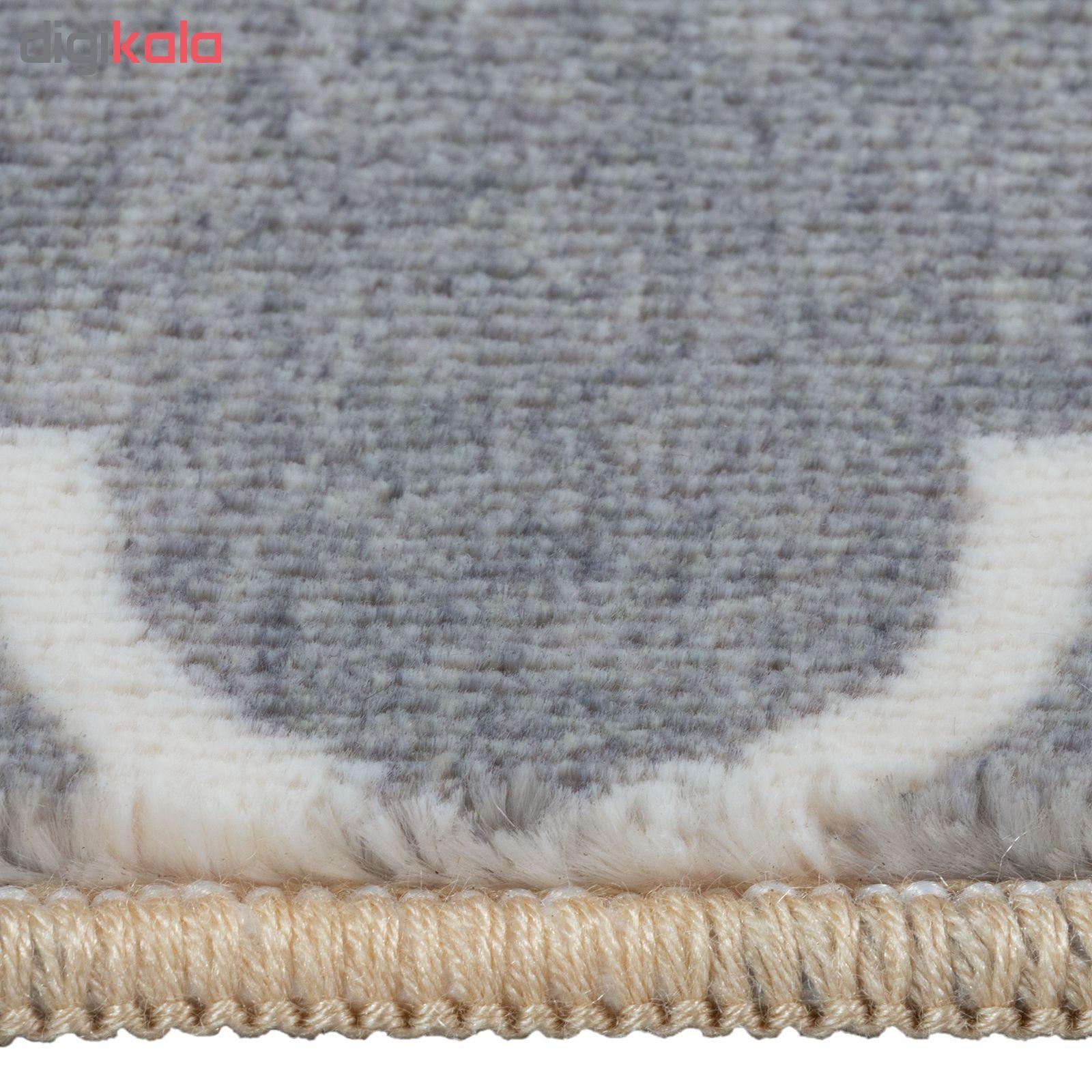 فرش ماشینی محتشم کد 100450 زمینه طوسی main 1 4