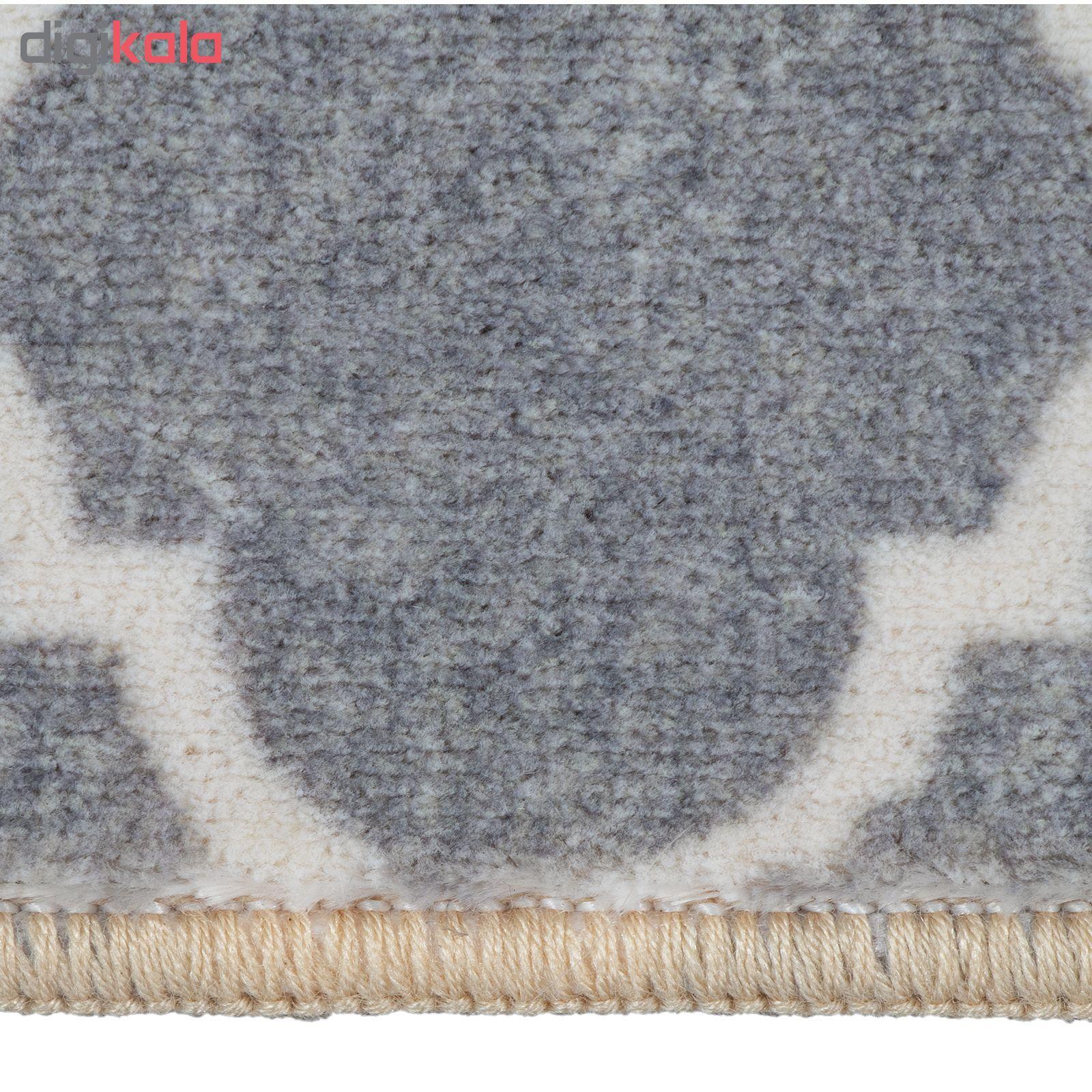 فرش ماشینی محتشم کد 100450 زمینه طوسی main 1 5