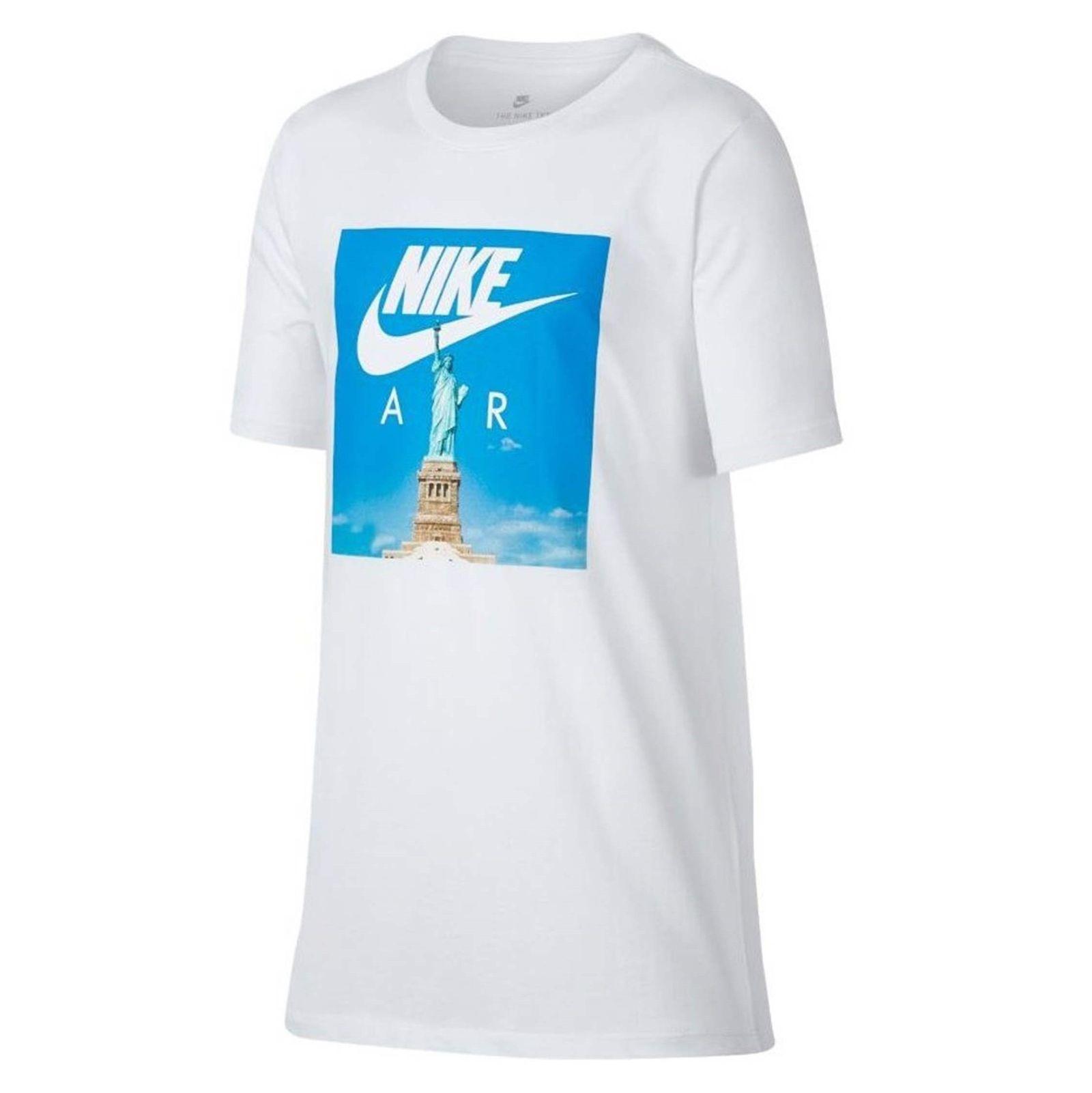 تی شرت ورزشی آستین کوتاه پسرانه Air Liberty - نایکی - سفيد - 3