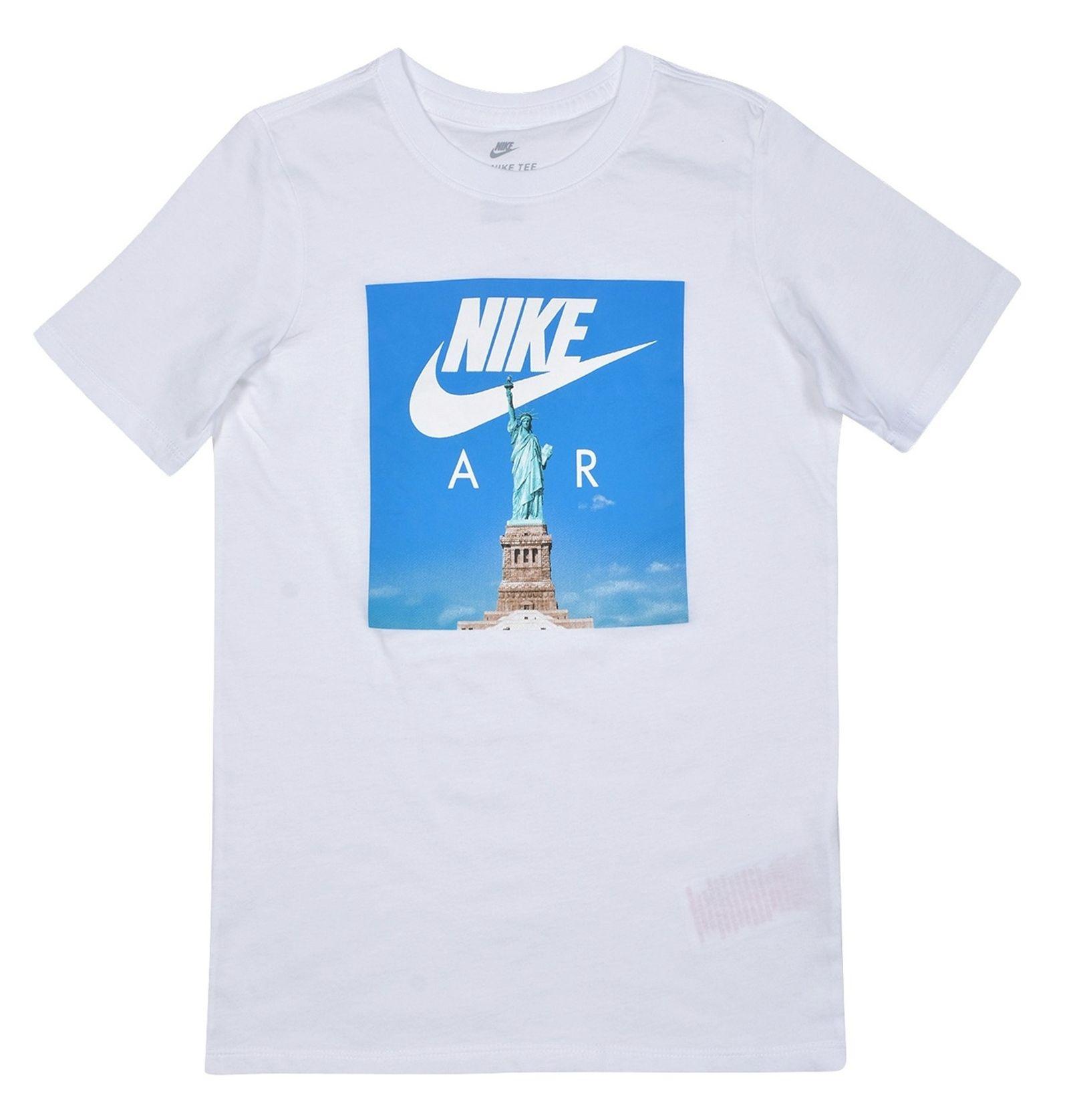 تی شرت ورزشی آستین کوتاه پسرانه Air Liberty - نایکی - سفيد - 5