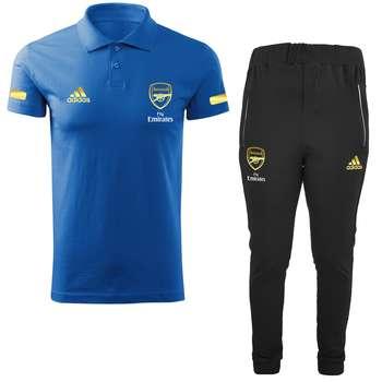 ست پولوشرت و شلوار ورزشی مردانه طرح آرسنال کد RS2021 رنگ آبی