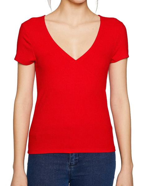 تی شرت ویسکوز یقه هفت زنانه - کوتون