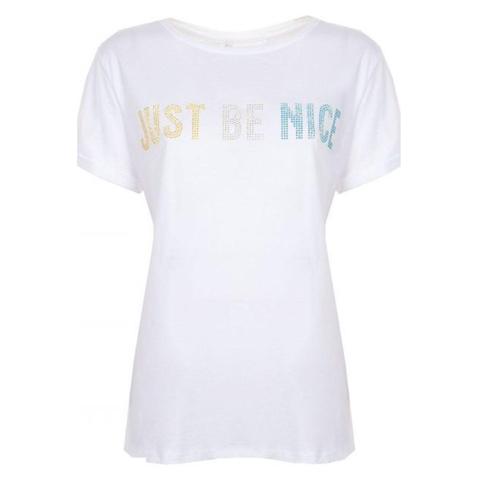 تی شرت نخی یقه گرد زنانه - امپریال - سفيد - 1