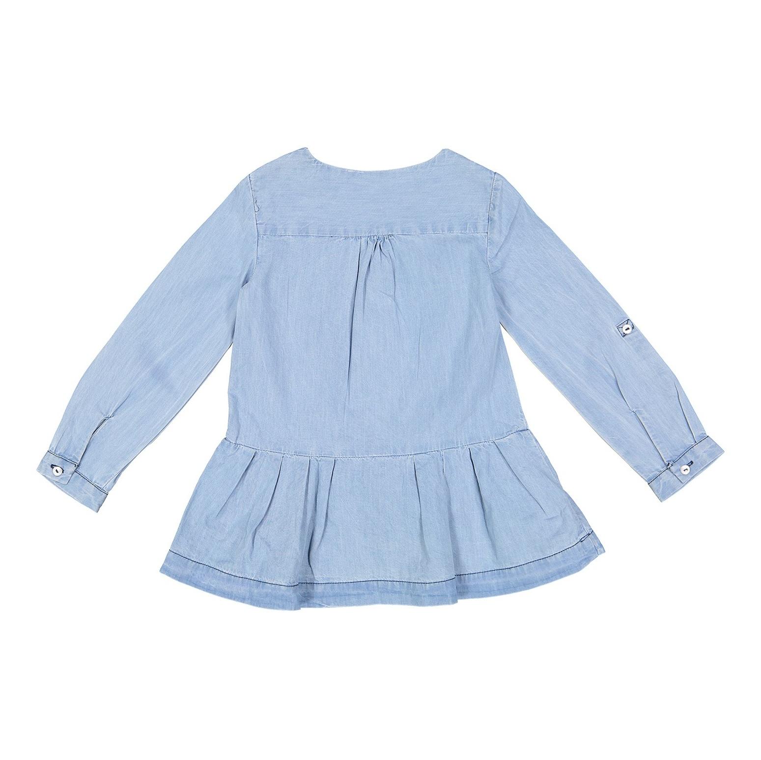پیراهن نخی روزمره دخترانه - بلوکیدز - آبي روشن - 2