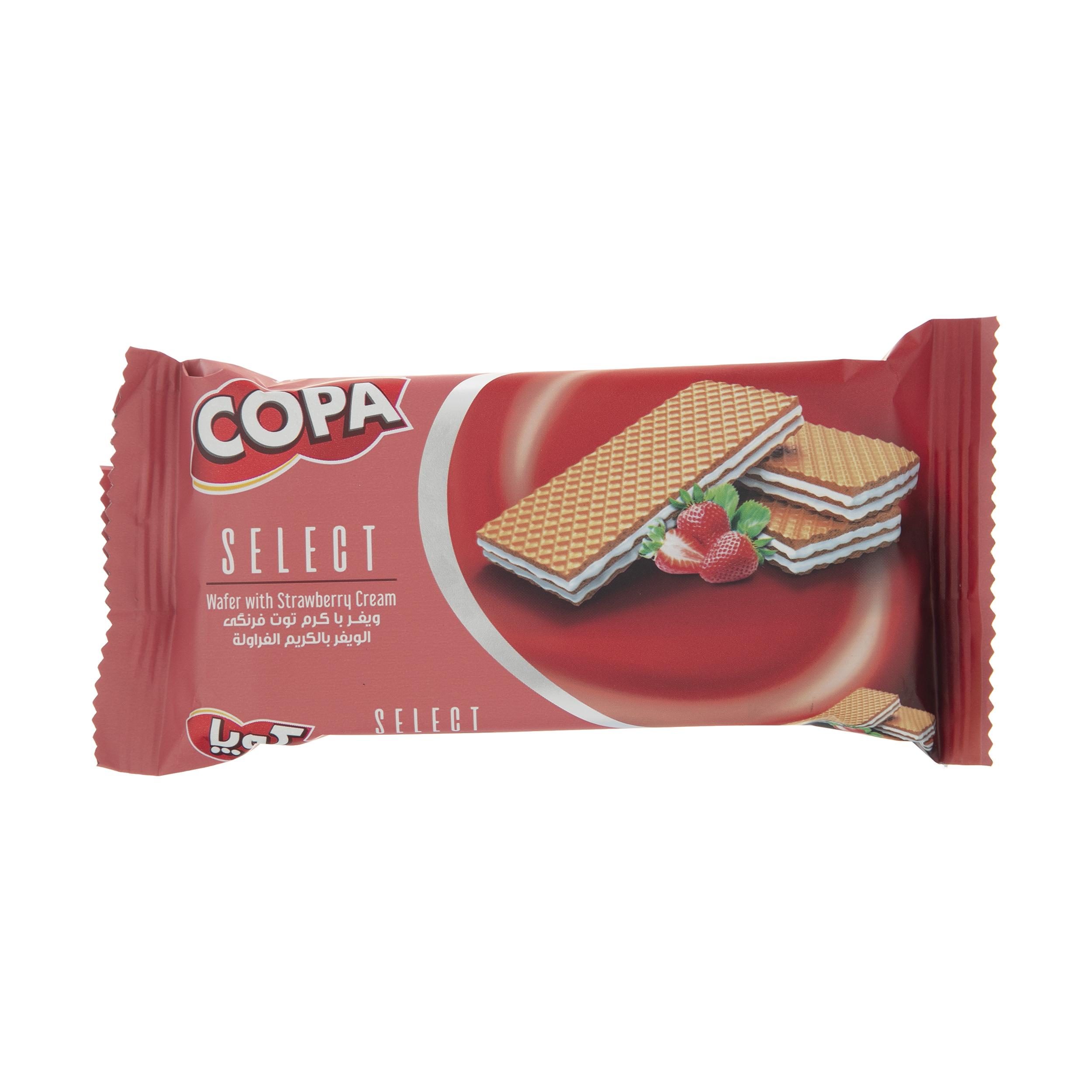 ویفر کرمی کوپا با طعم توت فرنگی  - 40 گرم