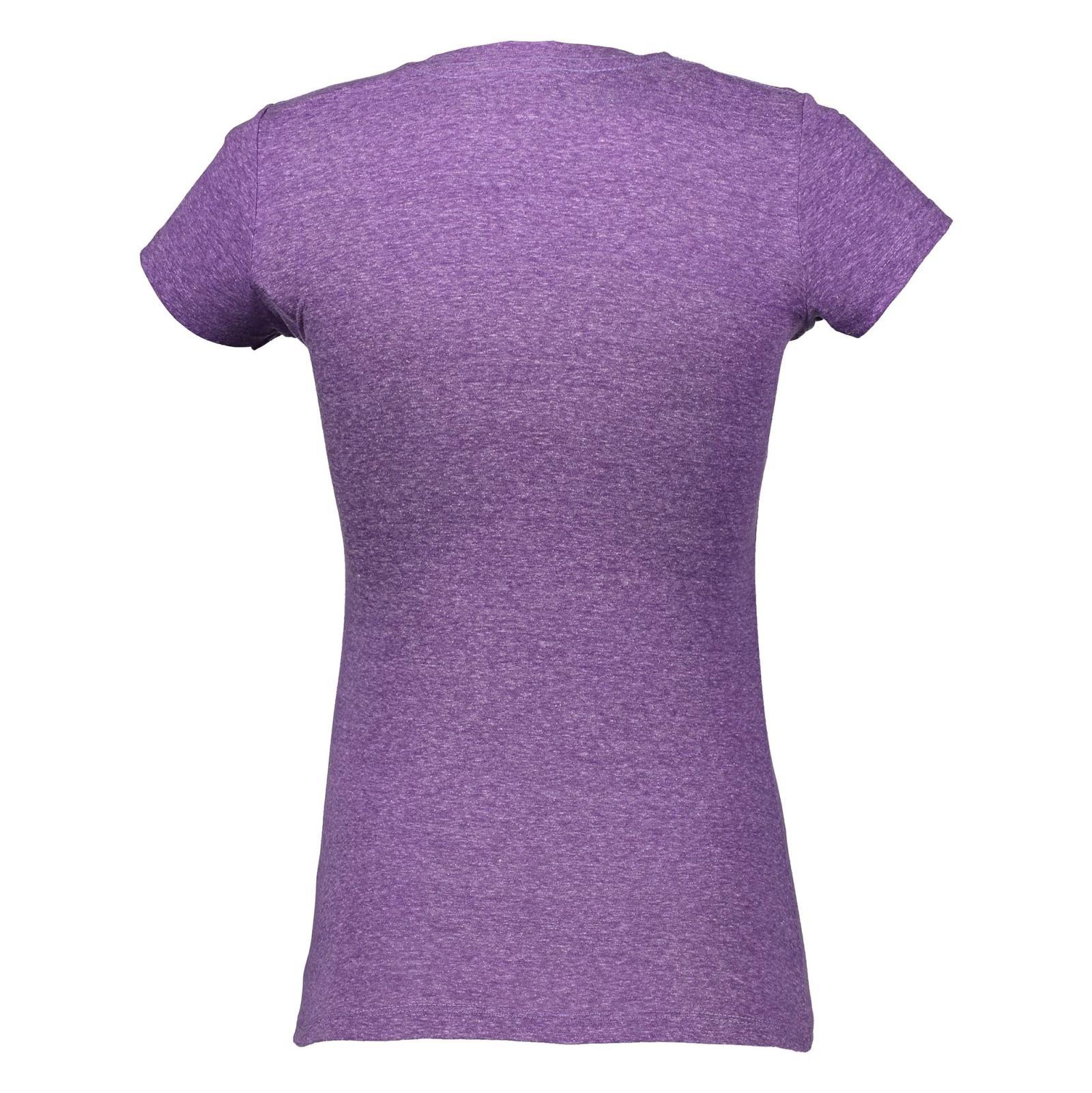 تی شرت یقه گرد زنانه - متی - بنفش - 4