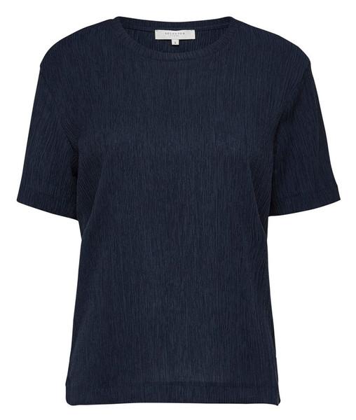 تی شرت ویسکوز یقه گرد زنانه - سلکتد