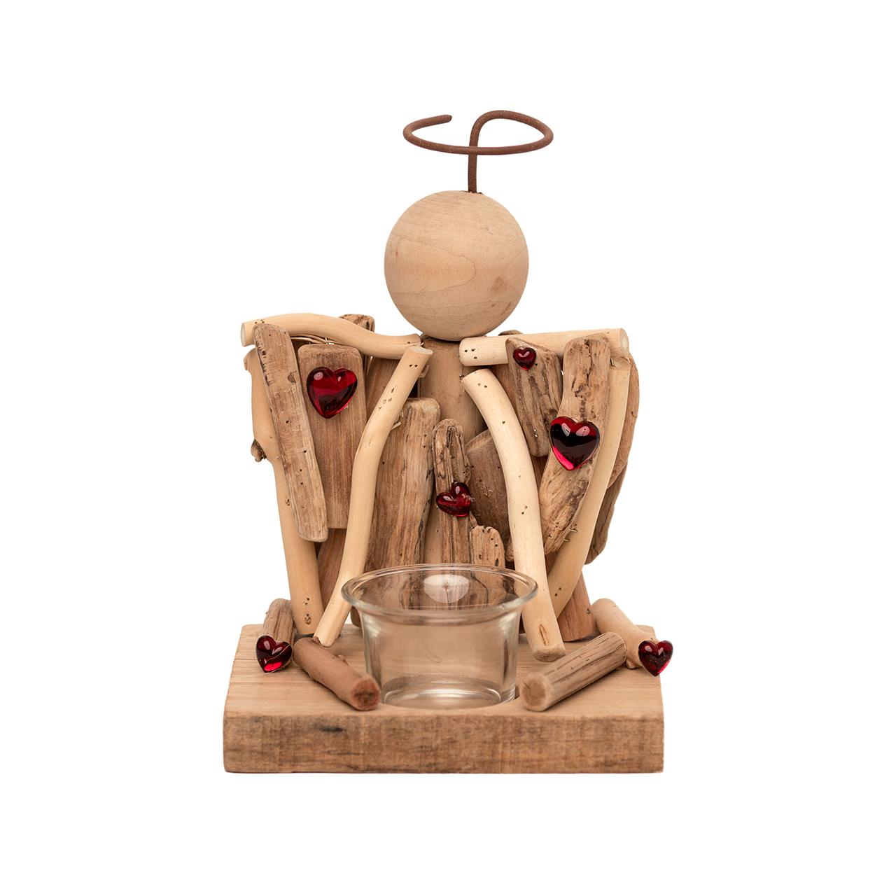 جا شمعي چوبي مدل فرشته کد m98