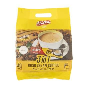 قهوه آیریش کریم کوپا مدل 3in1 بسته 40 عددی