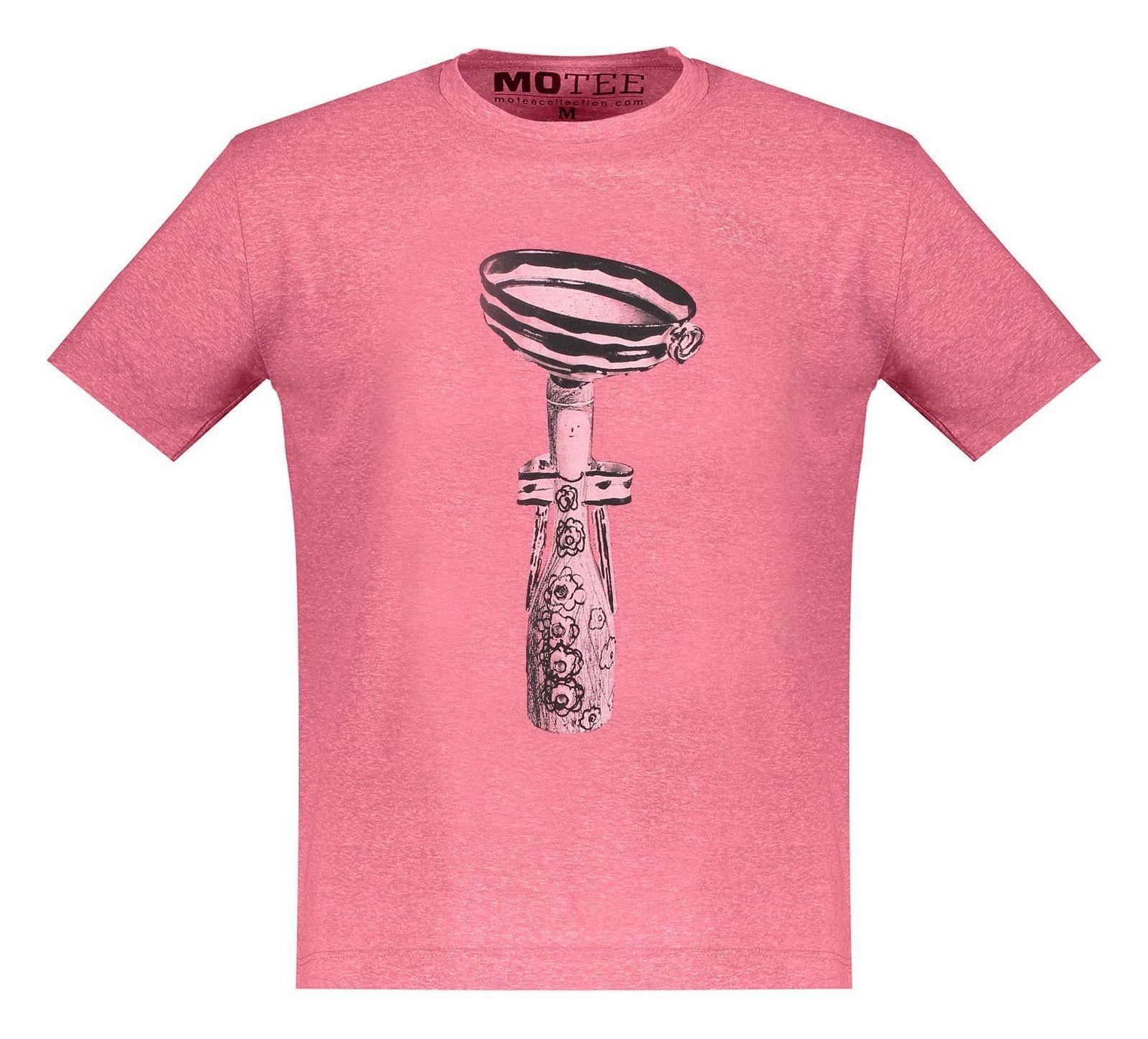 تی شرت یقه گرد مردانه - متی - قرمز - 1