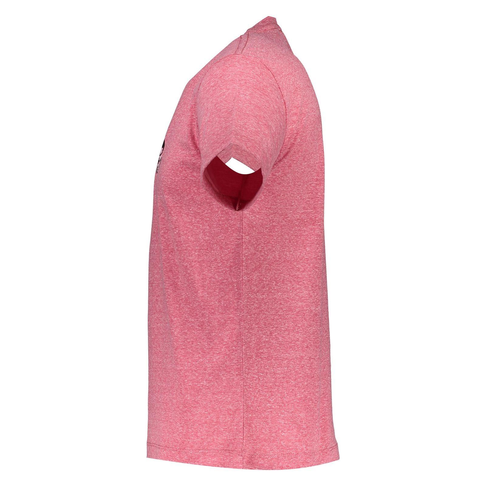 تی شرت یقه گرد مردانه - متی - قرمز - 3