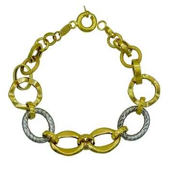 دستبند طلا 18 عیار زنانه کانیار گالری کد 1717