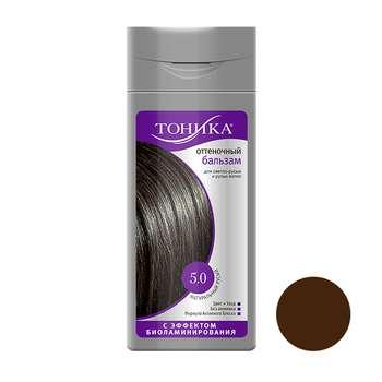 شامپو رنگ مو تونیکا شماره 5.0 حجم 150 میلی لیتر رنگ قهوه ای روشن طبیعی