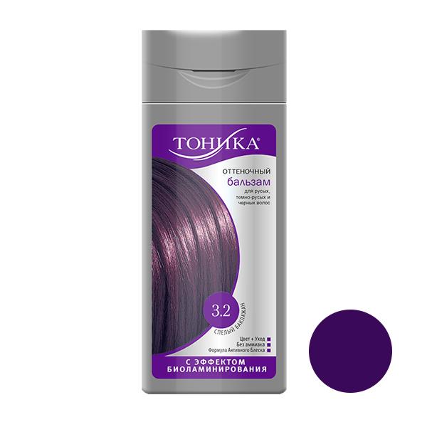 شامپو رنگ مو تونیکا شماره 3.2 حجم 150 میلی لیتر رنگ بادمجانی