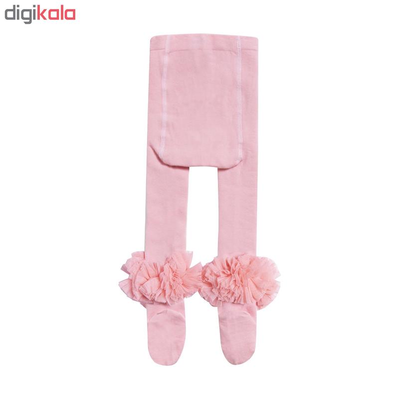 جوراب شلواری نوزادی دخترانه کد 2005-2